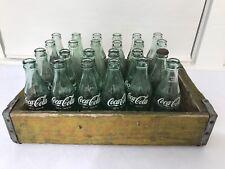 Vintage Coca Cola 24 Bottles With Crate Complete 6 1/2 Oz Wood Case Old Antique