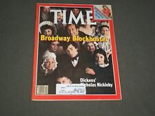 1981 OCTOBER 5 TIME MAGAZINE - CAST OF DICKENS' NICHOLAS NICKELBY - T 2535