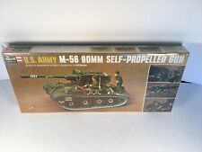 1971 Revell 1/40 U.S. ARMY M-56 90MM Self-Propelled Gun Vintage Model Kit H-556