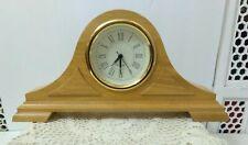 WESTCLOX TIME TRADITIONS WOODEN MANTLE CLOCK MODEL #48043 NIB