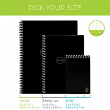 Rocketbook Smart Reusable Notebook - Dotted Grid Eco-Friendly Notebook with 1 &