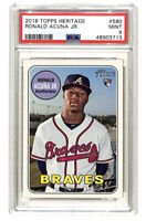 2008 Topps Heritage #580 Ronald Acuna Jr rookie RC card PSA 9 Braves ID1