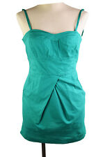 Dynamite Mini Dress Spaghetti  97% Cotton Casual Sexy Summer Stretch Green Sz 3