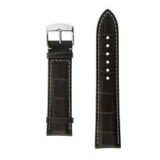 Uhrenarmband Armband  Echtleder 22 mm Breit braun mokka mit Prägung von Zeppelin