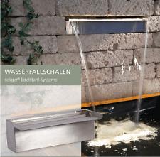 90 cm Wasserfallschale Edelstahl  Wasserfall Bachlauf Gartenteich Wasserwand