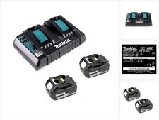 Makita Power Set 2x BL 1850 B Akku 5,0 Ah 18 V + DC18RD Doppel Schnellladegerät