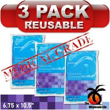 3 Pack-Hot Cold Gel Pack 6.75 x 10.5 Sore Pain Therapy Relief Reusable Compress