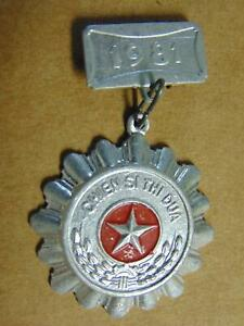 Vietnam 1981 NVA Medal Chien sy thi dua Soldier of Emulation Decoration Pin