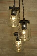 Mason Jar Chandelier Oil Rubbed Bronze Pendant Light Fixture Rustic Industrial