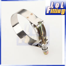 "2.75"" inch Turbo Pipe Hose Coupler T-bolt Clamp Stainless Steel 73/81mm"