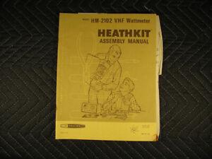 Genuine Heathkit Model HM-2102 VHF Wattmeter Manual