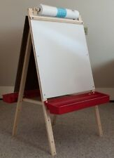 Beka Ultimate Child'S Wood Easel Green Chalkboard, Magnet Board & Red Trays New