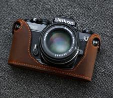 Genuine Leather Half Case for Nikon FM2, FM3A, FE, FE2 Brown Suede