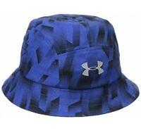 Under Armour Childrens Big Boys Warrior Bucket Hat Blue & Black Colorway NEW!