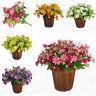 Hot Artificial Fake Daisy Flower Plant Pot Bouquet Home Office Wedding Decor