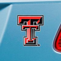 Texas Tech Red Raiders Heavy Duty Metal 3-D Color Auto Emblem