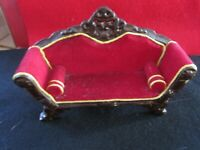 Dollhouse Miniature Victorian Sofa Red A 1:12 One Inch Scale  H93 Dollys Gallery