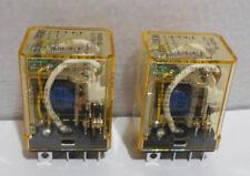 Lot of 2 New IDEC RH2B-UL  AC 110-120VAC  Power Relays