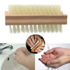 Wooden Double Sided Manicure Finger Nail Pedicure Scrubbing Clean Wash