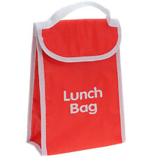 Thermal Cooler Lunch Bag Insulated Kids Office Hot Cold Food Portable School Red