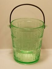 Cambridge Uranium Green Vasoline Ice Bucket