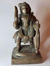 VECCHIO Indiano Statua di Bronzo di Krishna narayana