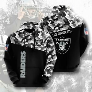 Las Vegas Raiders Hoodies Pullover Football Hooded Sweatshirt Casual Jacket