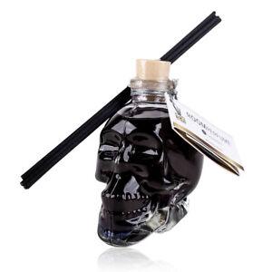 """Raumduft """"Blackberry"""" Totenkopf-Flasche mit Diffuser-Stäbchen, 170 ml Raumparfüm"""