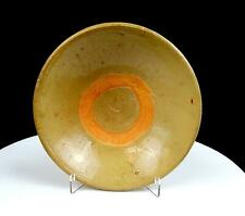 """CHINESE SONG DYNASTY TAN GLAZE HAND-THROWN POTTERY CONICAL 7"""" BOWL 960-1279"""