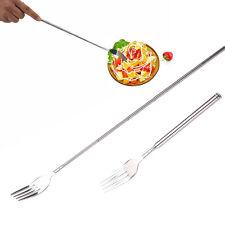 Extendable Freeloader Telescope Fork Spoon Dining Restaurant Novelty Food Dinner