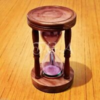 Wooden Sand Timer Antique Vintage Maritime Collectible Decor