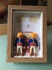 Jumelles Cadre / Création originale avec Playmobil / Cadeau unique / Home made