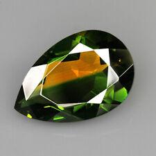 8.6Ct Man Made Bi Color Glass Yellow Green Oval Cut MQYG9