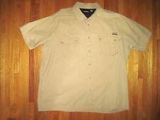 Big & Tall Dickies Men's Tan Short Sleeve Casual Shirt Sizes Size 3XL New