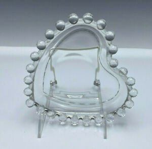 Imperial Candlewick Glass Heart Shaped Bon Bon Candy Dish Tray 400/174