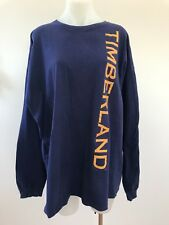 Vintage 90s TIMBERLAND SPELL OUT LONG SLEEVE LOGO T SHIRT made in USA sz XXL