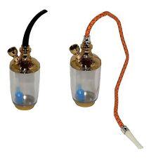 Gold Farbende 2 in1 Tabak Pfeife Tabakpfeife Wasserpfeife Shisha Nargile Sieb