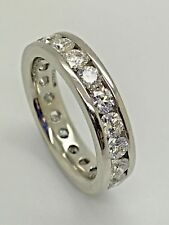 Platinum 2.00ct Full Eternity Certified Diamond Ring
