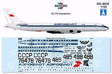 Revaro Decal Tu-114 Aeroflot classic for Veb Plasticart model kit 1/100