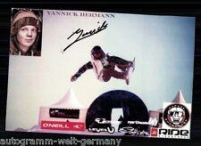 Yannick Hermann TOP AK Original Signiert Snowboard +A 61310