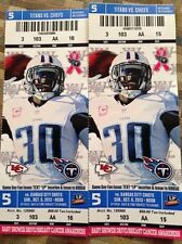 2013 TENNESSEE TITANS VS KANSAS CITY CHIEFS TICKET STUB 10/6/13 CHRIS JOHNSON