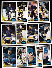 1987 OPC Team SET lot of 13 St. Louis BLUES NM/MT o-pee-chee GILMOUR FEDERKO