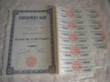 Vintage share certificate Stock Bonds établissements Bajac Farm machinery