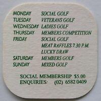Port Macquarie Golf Club Weekly Calendar 0265820409 Coaster (B339)
