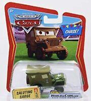 DISNEY PIXAR CARS 1 2 3 DIECAST 1:55 - SALUTING SARGE #100- CHASE - UK!