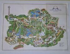 1971 MAGIC MOUNTAIN MAP POSTER AMUSEMENT PARK CALIFORNIA LITHOGRAPH VTG PRINT