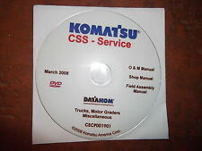 KOMATSU TRUCKS & MOTOR GRADERS  SERVICE SHOP REPAIR MANUAL CD