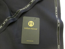 WILLIAM HALSTEAD Navy Cavalry Twill Pure Wool Jacketing/Coat/Suit Fabric.