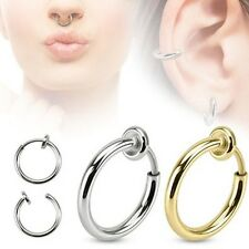 Fake Piercing Clip-on Jewelry Steel That Fits Every Where Style:  gold