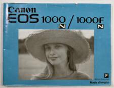 Notice Canon EOS 1000 - Livret mode d'emploi français -Appreil photo argentique